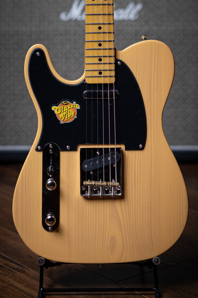 Squier Classic Vibe '50s Tele LH Electric Guitar - Butterscotch Blonde - Walt Grace Vintage