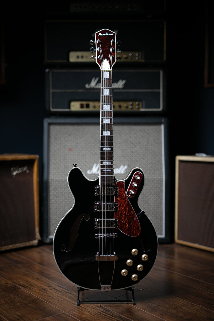 Airline H77 Electric Guitar - Black - Walt Grace Vintage