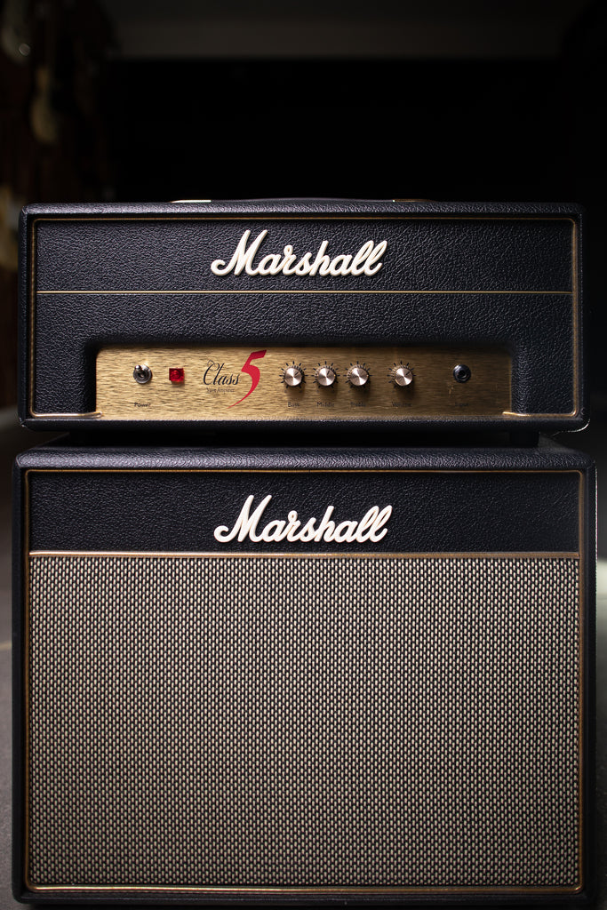 2011 Marshall Class 5 Tube Head and Extension Cabinet - Black - Walt Grace Vintage