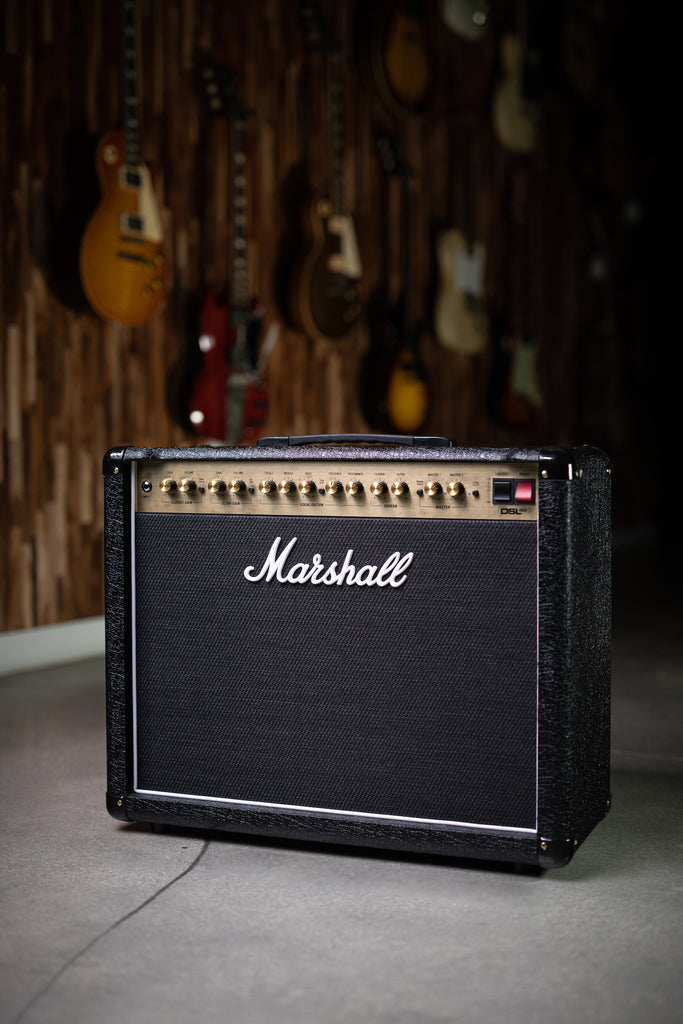 "Marshall DSL40CR 40-watt 1x12"" Tube Combo Amp - Black - Walt Grace Vintage"