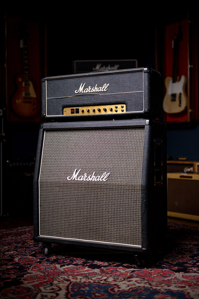 1977 Marshall JMP 50 / 1987 MK2 Head - Black - Walt Grace Vintage