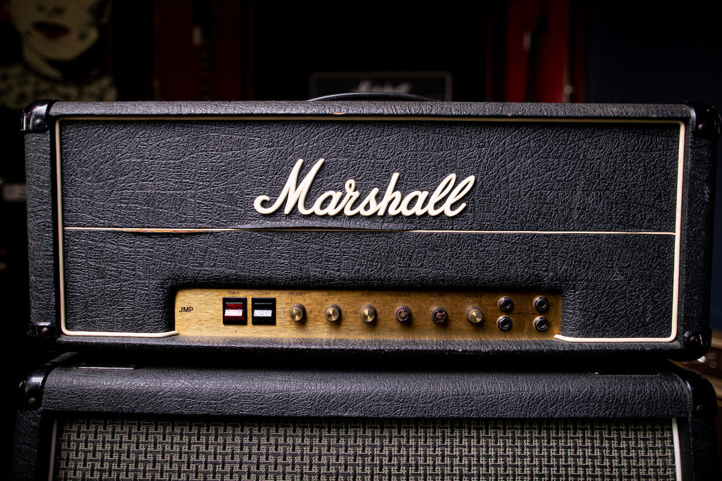1977 Marshall JMP 50 / 1987 MKII Tube Head - Black - Walt Grace Vintage