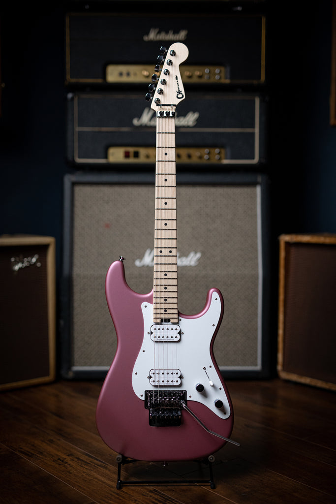 Charvel Pro-Mod So-Cal Style 1 HH FR M Electric Guitar - Satin Burgundy Mist - Walt Grace Vintage