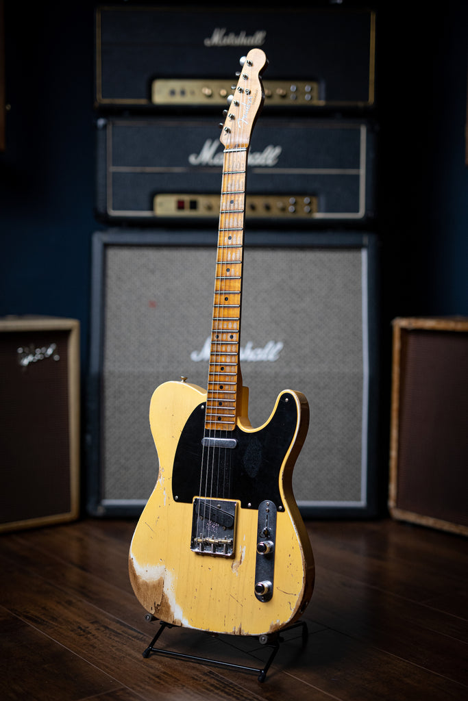 Fender Custom Shop '52 Telecaster Heavy Relic Electric Guitar - Butterscotch Blonde - Walt Grace Vintage