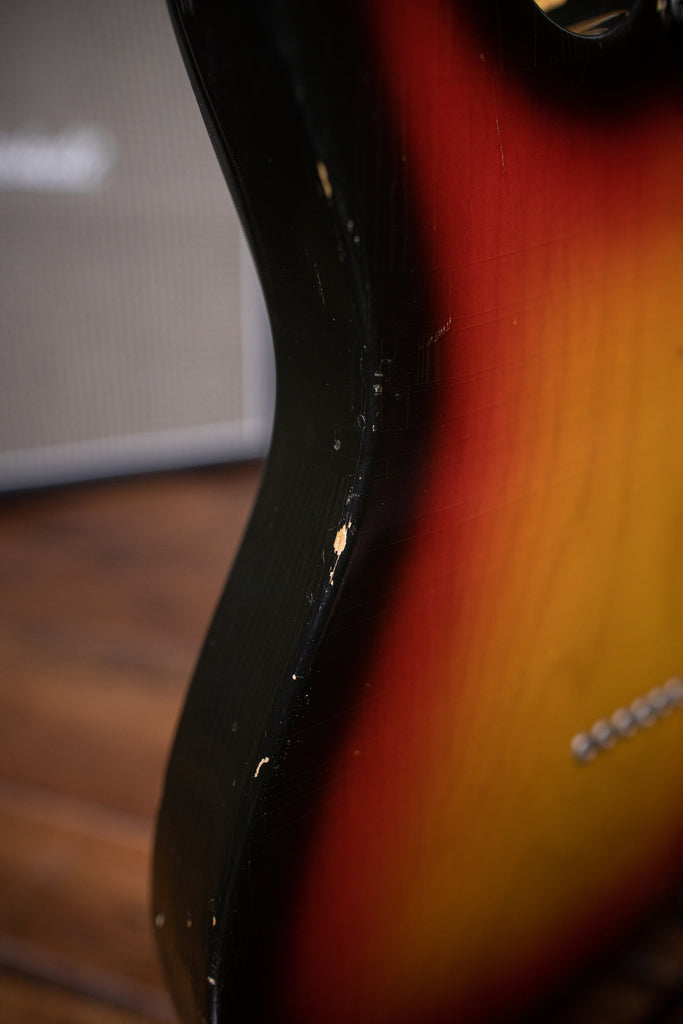1968 Fender Telecaster Maple Cap Neck Electric Guitar - Sunburst - Walt Grace Vintage
