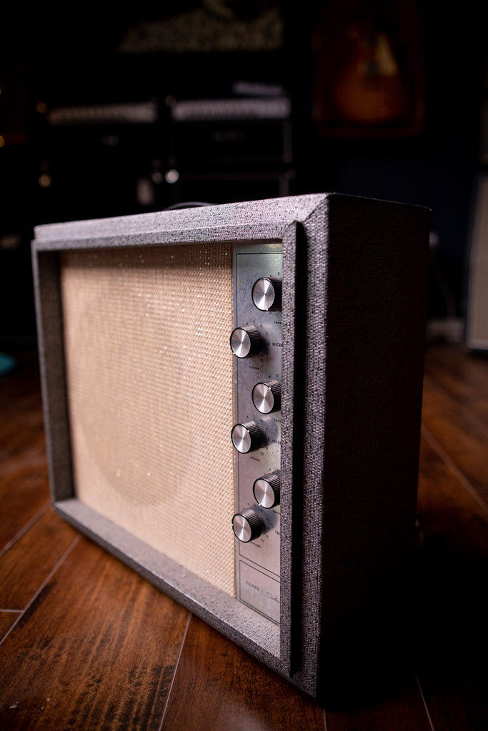 1966 Silvertone Model 1482 - Gray - Walt Grace Vintage