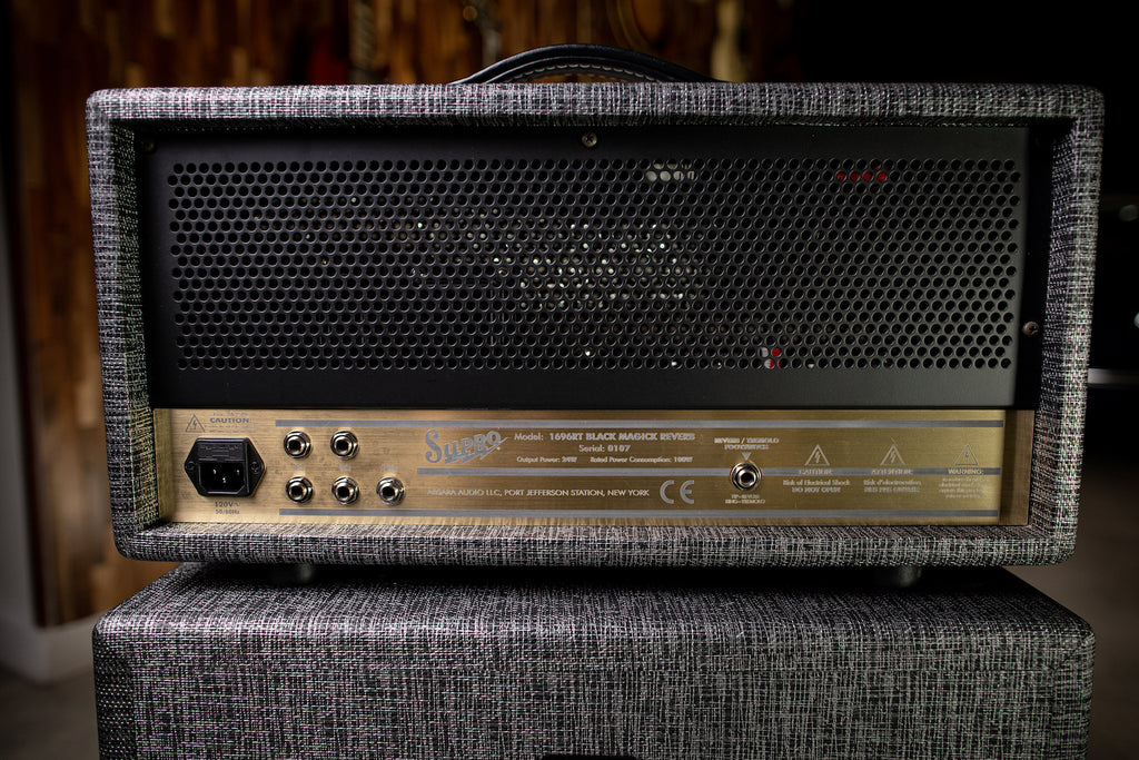 Supro 1696RTH Black Magick Reverb 25-watt Class A Tube Head - Gray - Walt Grace Vintage
