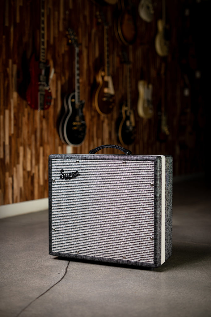 "Supro 1790 Black Magick 1x12"" Extension Cabinet - Gray - Walt Grace Vintage"