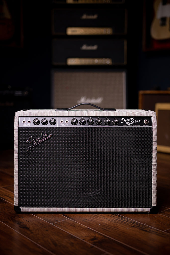 "Fender 2019 Limited Edition '65 Deluxe Reverb 22-watt 1x12"" Tube Combo Amp - FSR Chilewich - Walt Grace Vintage"