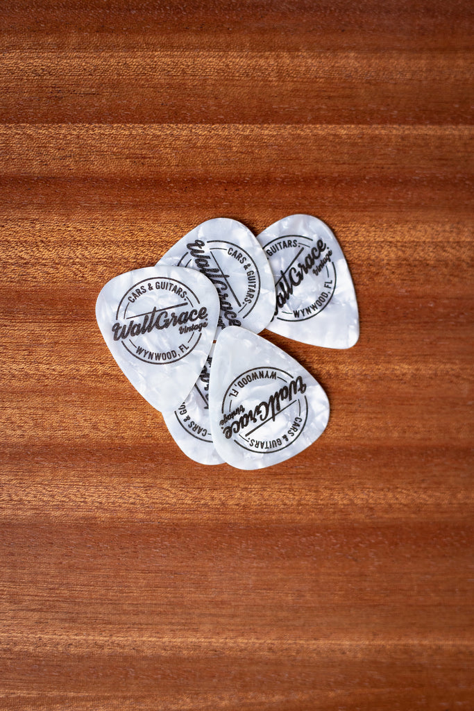 Walt Grace Vintage Celluloid Pick Pack .96mm - White Pearloid - Walt Grace Vintage