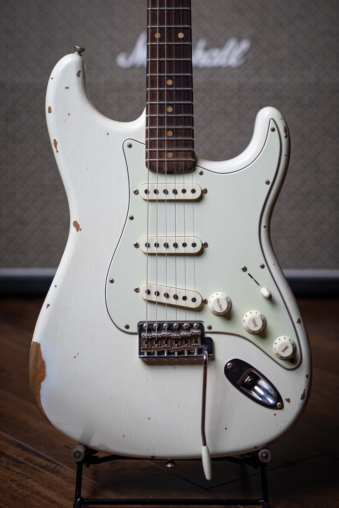 Fender Custom Shop '59 Stratocaster Heavy Relic - Olympic White - Walt Grace Vintage