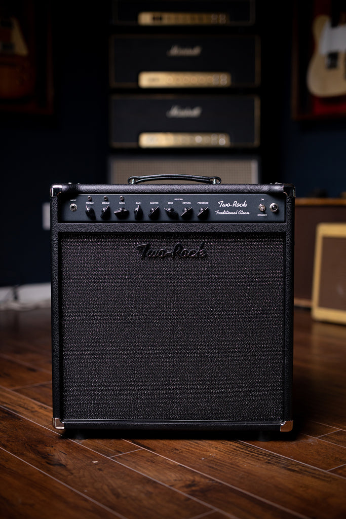 "Two-Rock Traditional Clean 40/20-watt 1x12"" Tube Combo Amp - Black - Walt Grace Vintage"