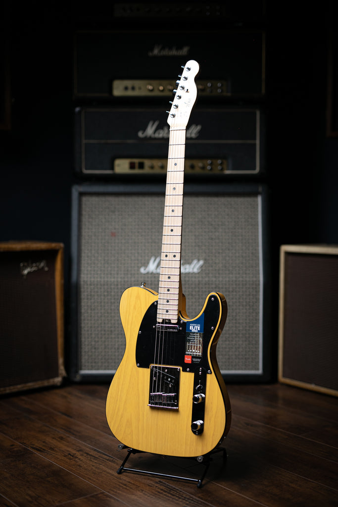 Fender American Elite Telecaster Electric Guitar - Butterscotch Blonde - Walt Grace Vintage