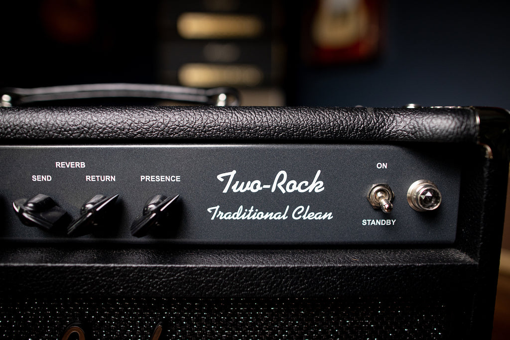"Two-Rock Traditional Clean 40/20 Watt 1x12"" Tube Combo Amp - Black - Walt Grace Vintage"