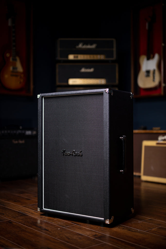 Two-Rock 12-65B 2x12 Extension Cabinet - Black Bronco, Black Matrix Grill Cloth - Walt Grace Vintage