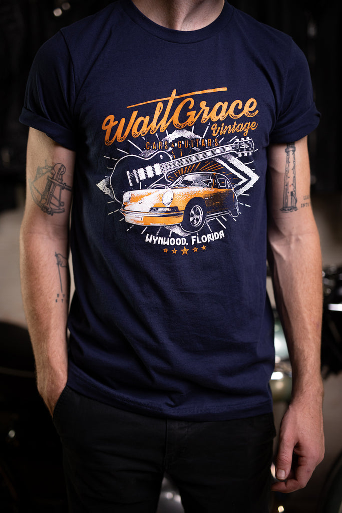 Walt Grace Vintage Navy Graphic T-Shirt - Gender Neutral - Walt Grace Vintage