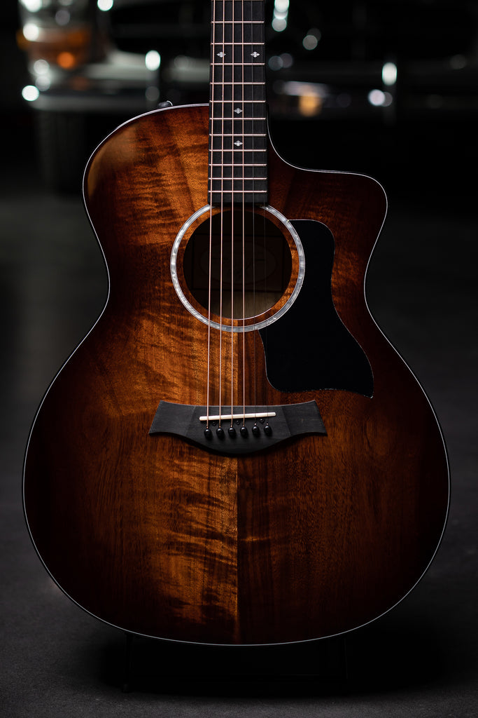 Taylor 224ce-K DLX with Layered Koa Back & Sides Acoustic Guitar - Shaded Edgeburst - Walt Grace Vintage