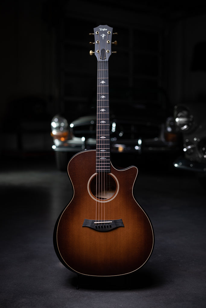 Taylor 614ce Builder's Edition Acoustic Guitar - Wild Honey Burst - Walt Grace Vintage