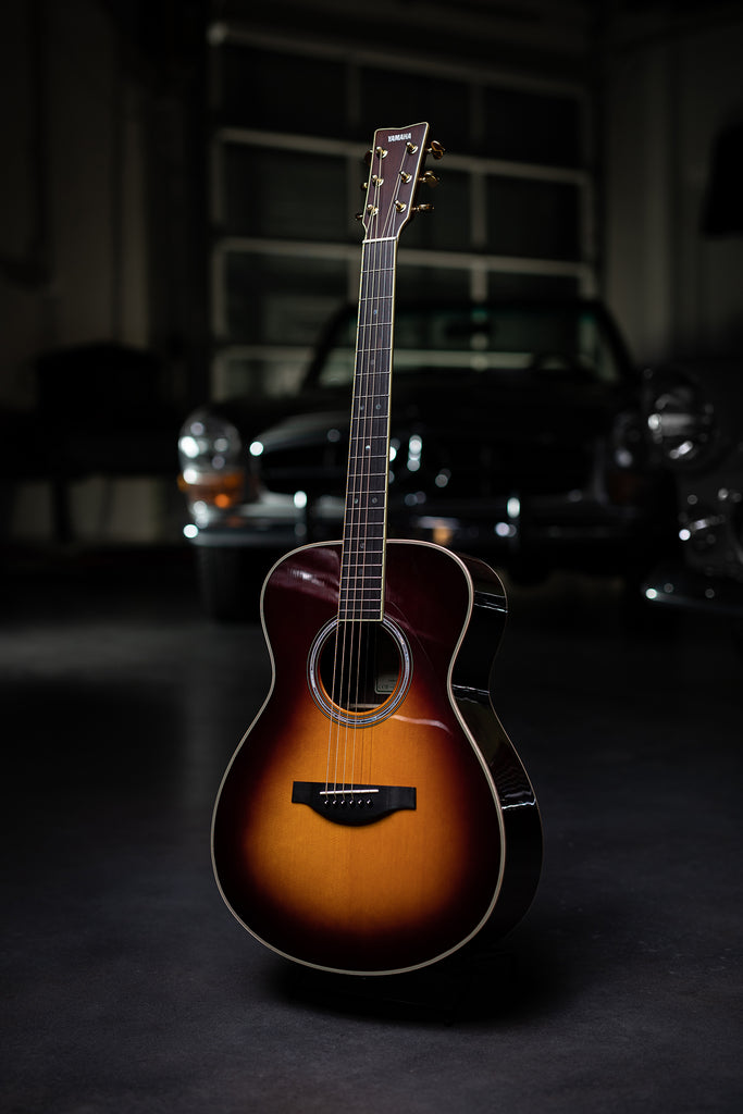 Yamaha LS-TA TransAcoustic Dreadnought Guitar - Brown Sunburst - Walt Grace Vintage