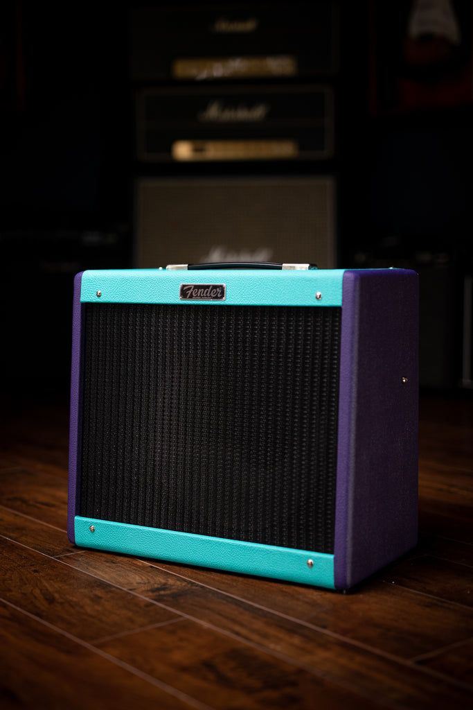 "Fender 2020 Limited Edition Eminence Cannabis Rex Blues Junior IV 15-watt 1x12"" Combo Amp - Seafoam and Purple"