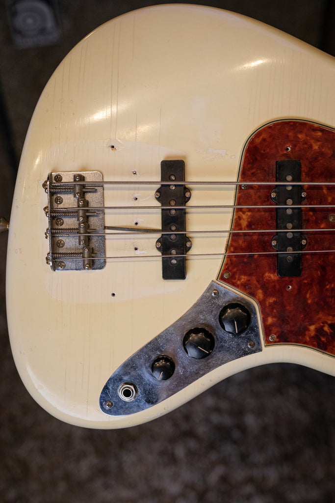 1962 Fender Jazz Bass - Olympic White - Walt Grace Vintage