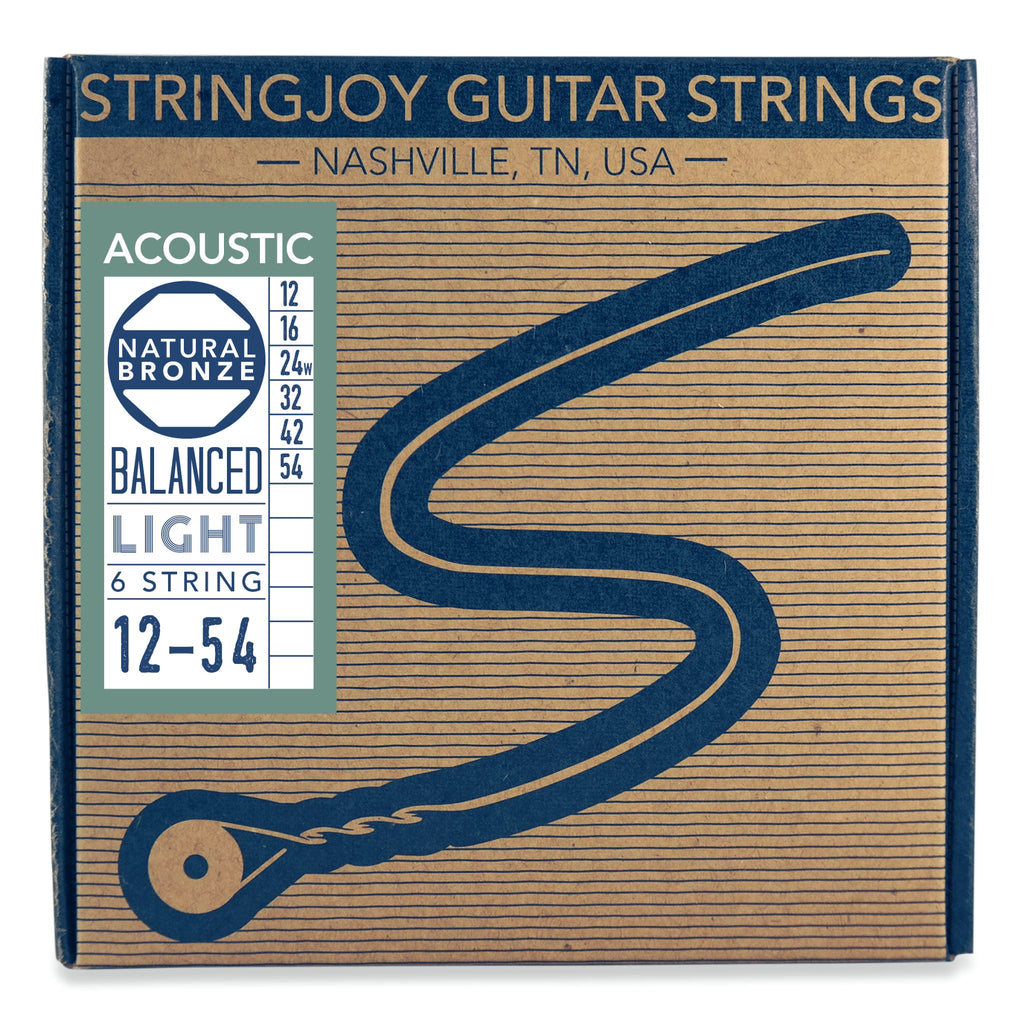 Stringjoy Naturals | Light Gauge 12-54 Phosphor Bronze Acoustic Guitar Strings - Walt Grace Vintage