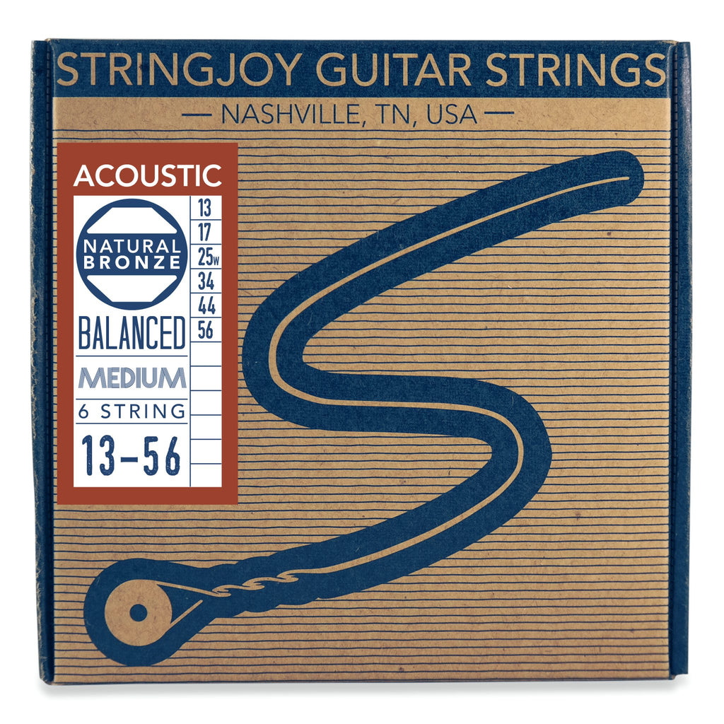 Stringjoy Naturals | Medium Gauge 13-56 Phosphor Bronze Acoustic Guitar Strings - Walt Grace Vintage