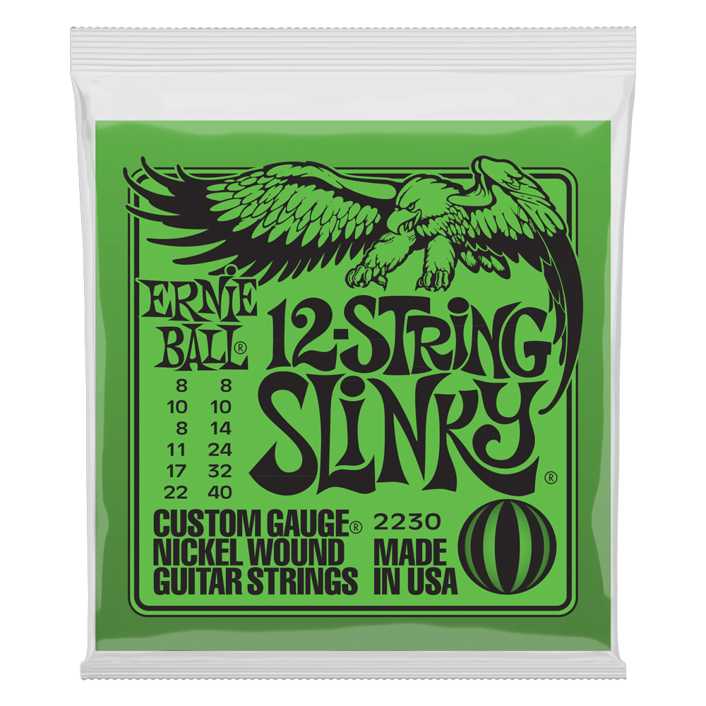 Ernie Ball 2230 Slinky 12-String Nickel Wound Electric Guitar Strings 8-40 - Walt Grace Vintage