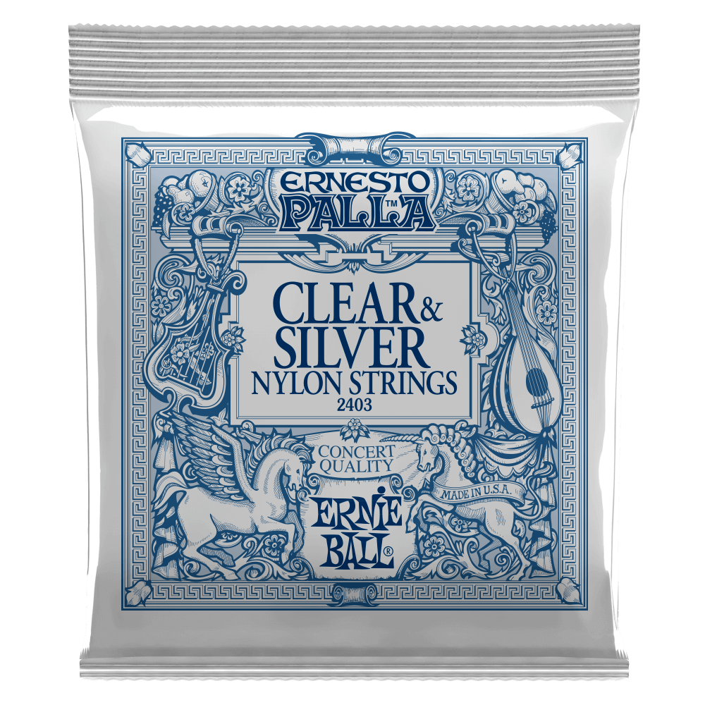 Ernie Ball 2403 Ernesto Palla Nylon Classical Guitar Strings - Clear & Silver - Walt Grace Vintage