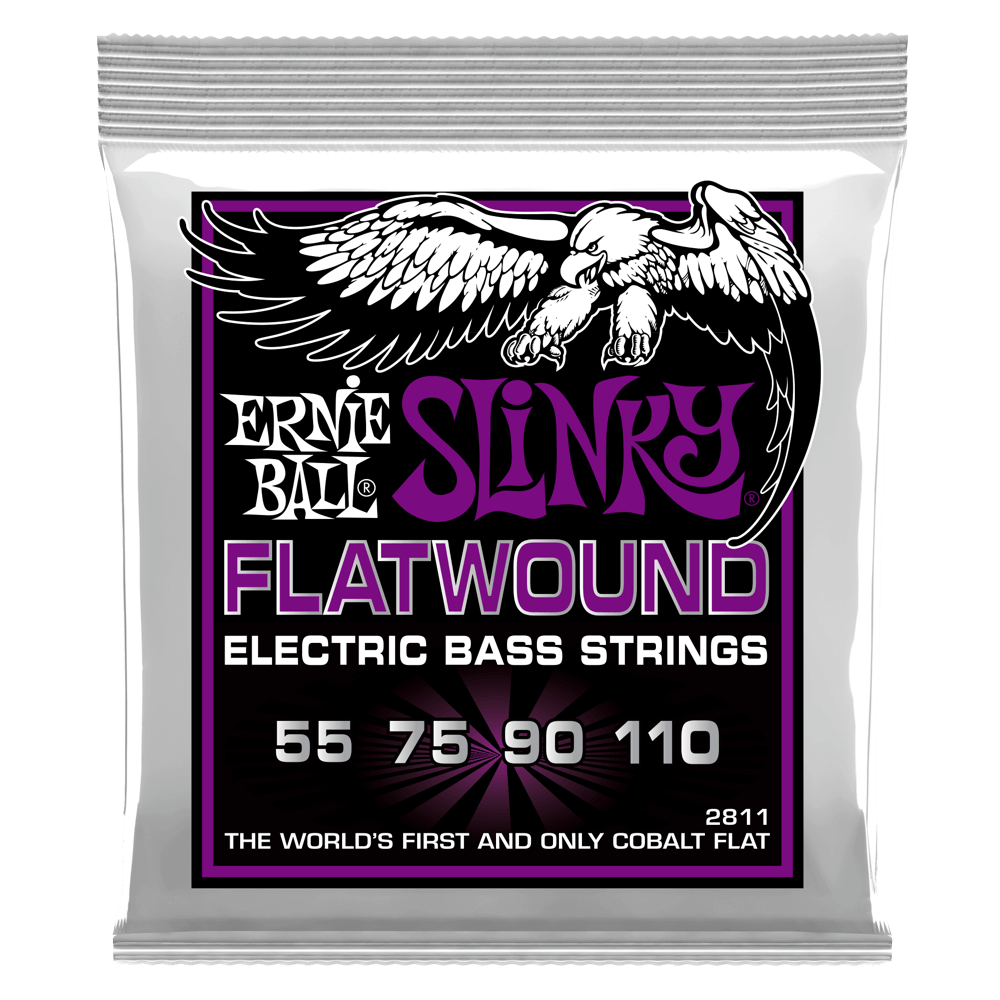 Ernie Ball  2811 Power Slinky Flat Wound Electric Bass 4 String - Walt Grace Vintage