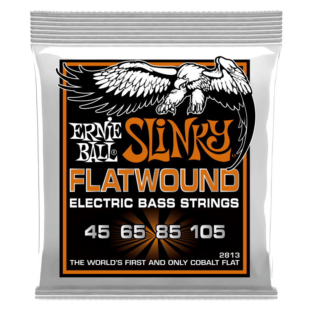 Ernie Ball 2813 Slinky Flat Wound Electric Bass 4 String - Walt Grace Vintage