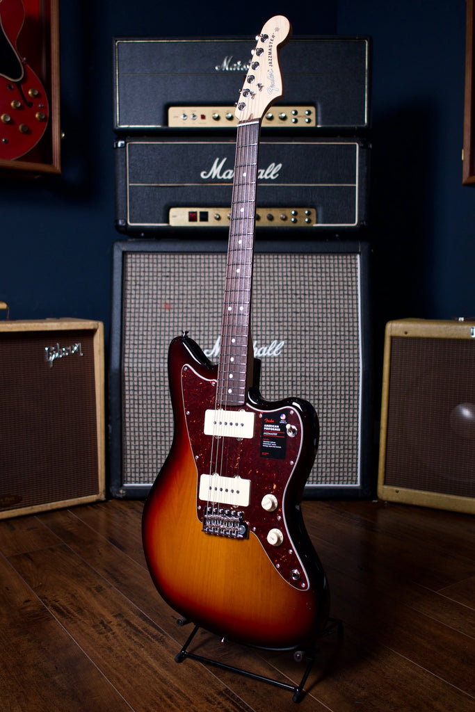 Fender American Performer Jazzmaster Electric Guitar - 3 Color Sunburst - Walt Grace Vintage