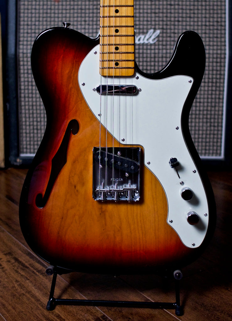 Fender American Original 60's Telecaster Thinline Electric Guitar - 3 Color Sunburst - Walt Grace Vintage