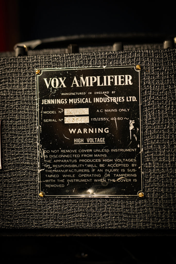 1965 Vox AC30 Tube Head - Walt Grace Vintage