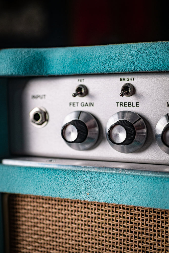 Two-Rock Classic Reverb 100 Watt Tube Head - Mint Suede, Cane Grill, Silver Anodize, Silver Knobs - Walt Grace Vintage