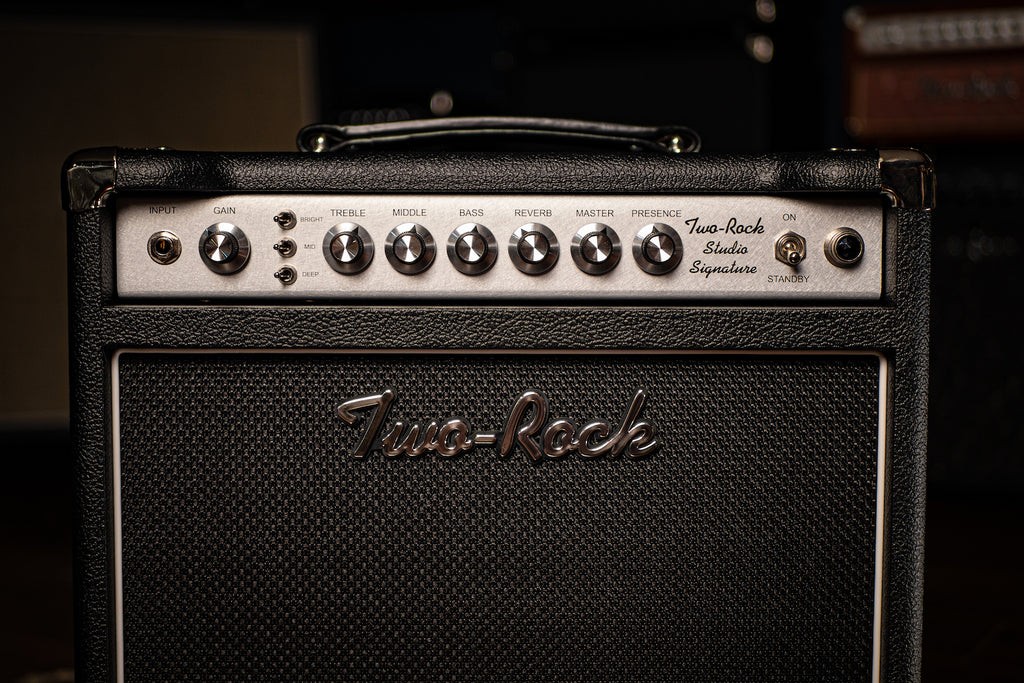 Two-Rock Studio Signature 35 Watt Combo Amp - Silver Chassis, Black Bronco, Black Matrix Grill - Walt Grace Vintage