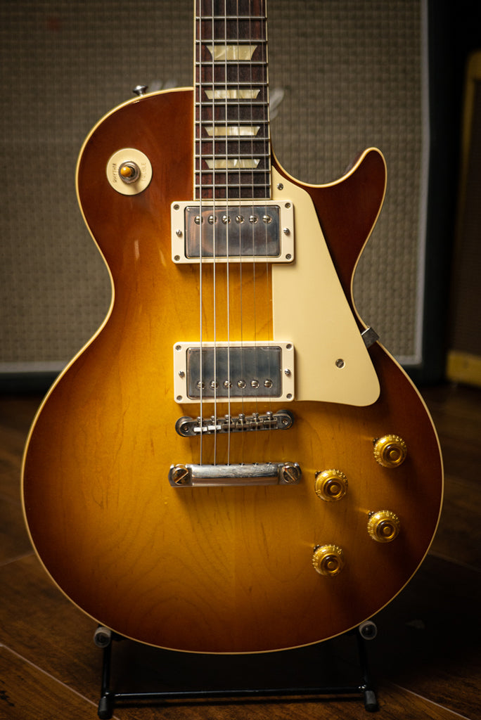 Gibson Custom Shop 1958 Les Paul Standard Reissue VOS Electric Guitar - Iced Tea Burst