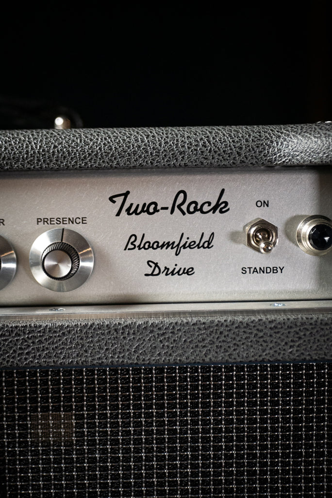 Two-Rock Bloomfield Drive 100/50w Tube Head and Cabinet - Slate Grey Tolex, Silver Cloth, Silver Skirt Knobs