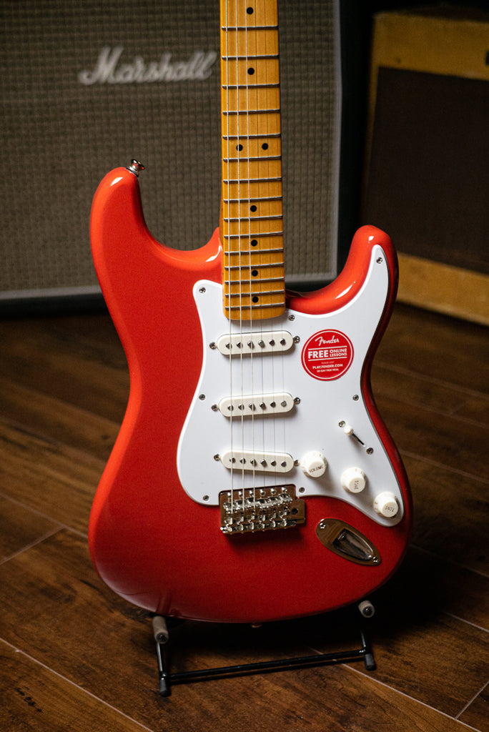 Squier Stratocaster Classic Vibe 50's Electric Guitar - Fiesta Red