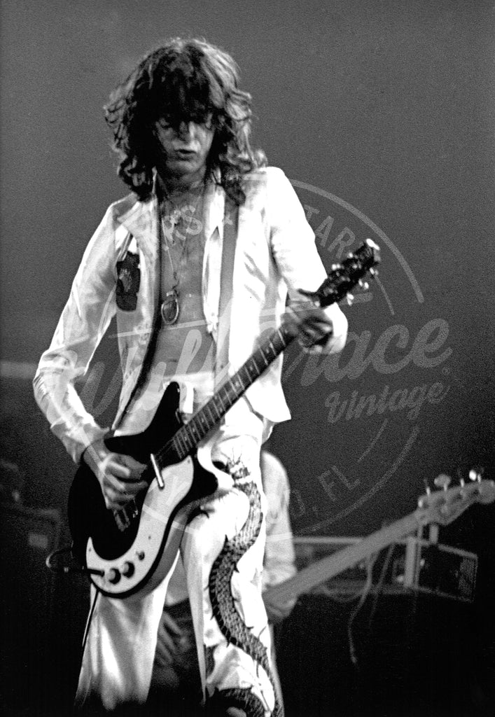 Mark Weiss: Jimmy Page 1977: Signed Print - Walt Grace Vintage