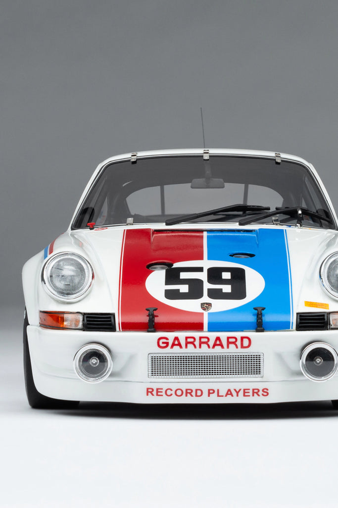 Amalgam Collection - 1973 Porsche 911RSR  2.8 BRUMOS DAYTONA  SIGNED EDITION  1:18 Scale - Walt Grace Vintage