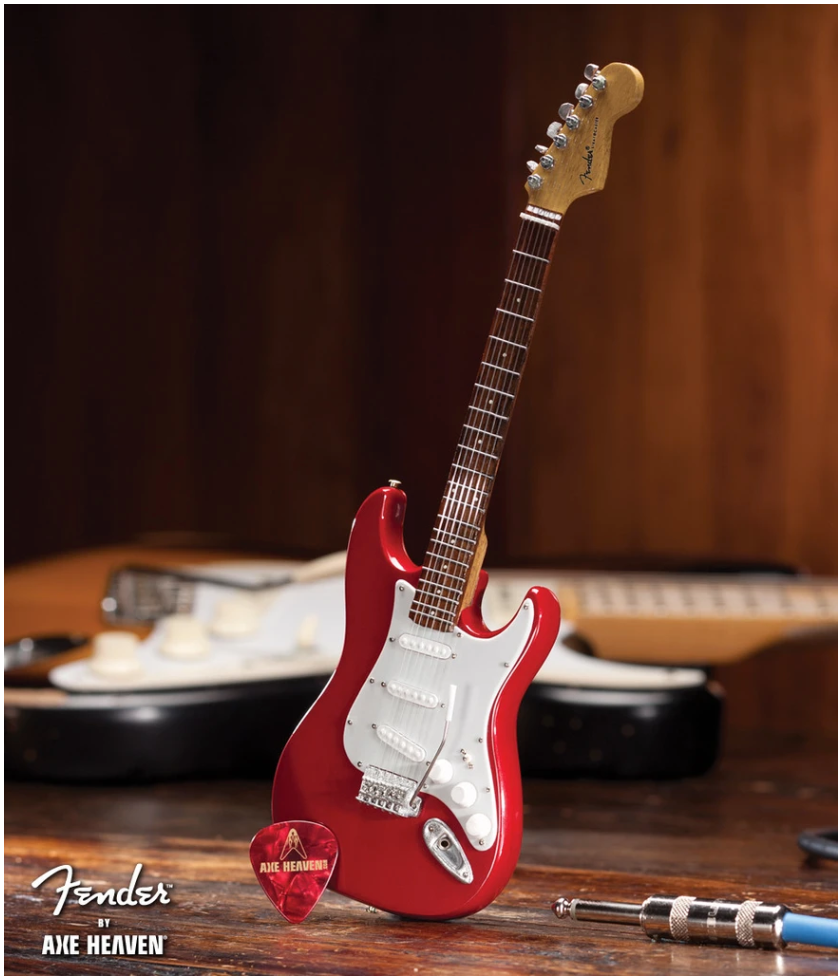 Red Fender Stratocaster - Mini Guitar - Walt Grace Vintage