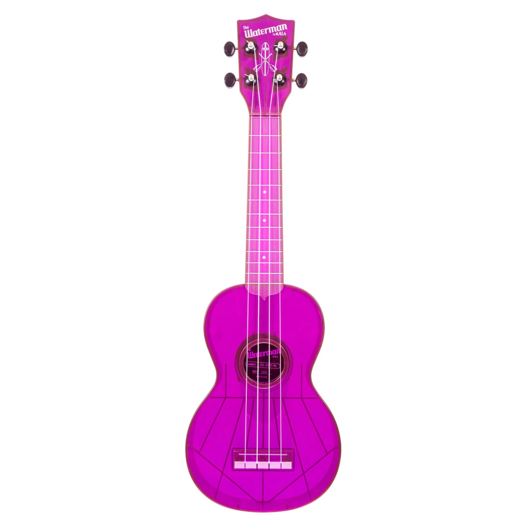 Kala The Waterman Soprano Ukulele - Fluorescent Purple Grape - Walt Grace Vintage
