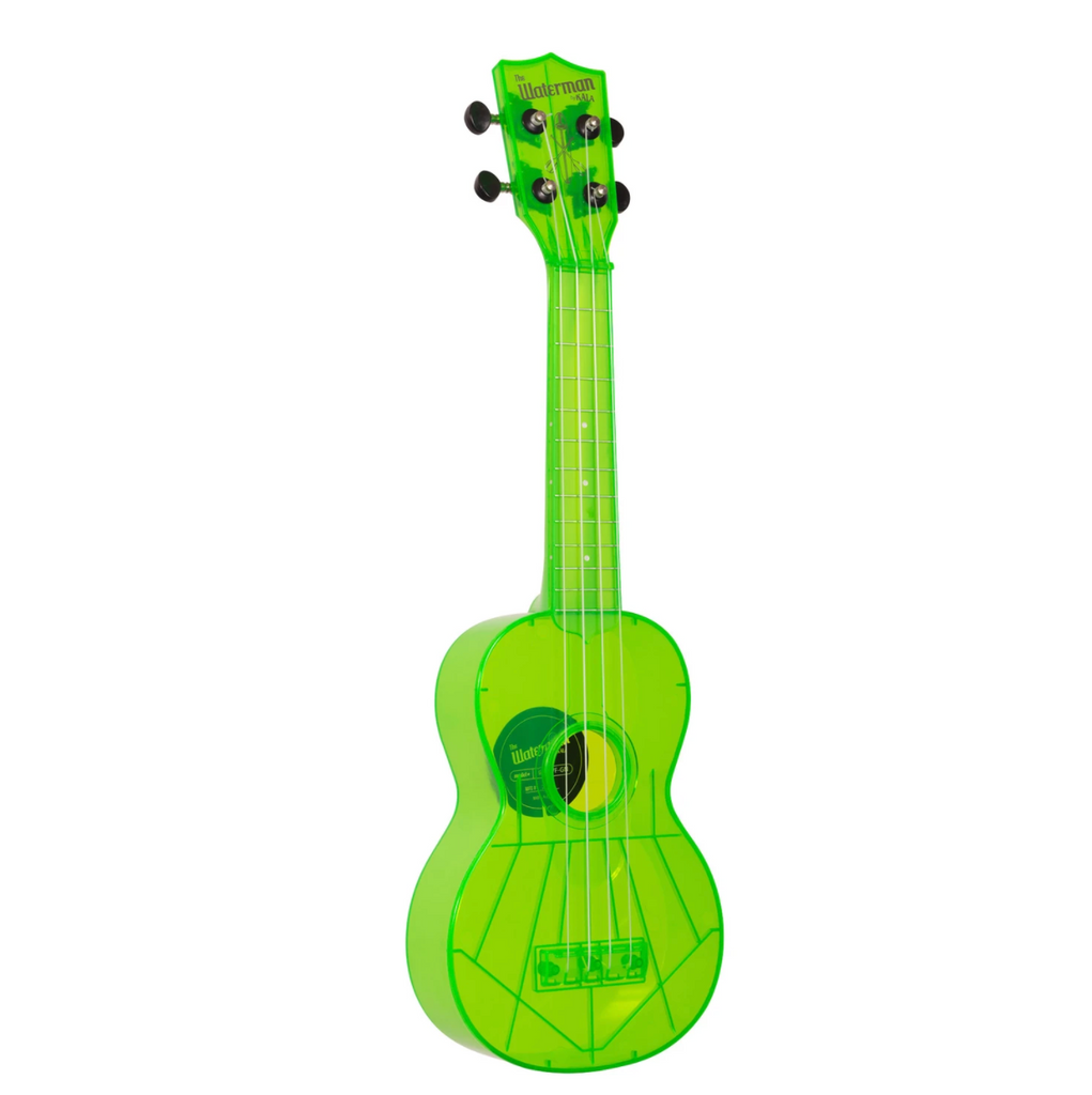 Kala The Waterman Soprano Ukulele - Fluorescent Sour Apple Green - Walt Grace Vintage