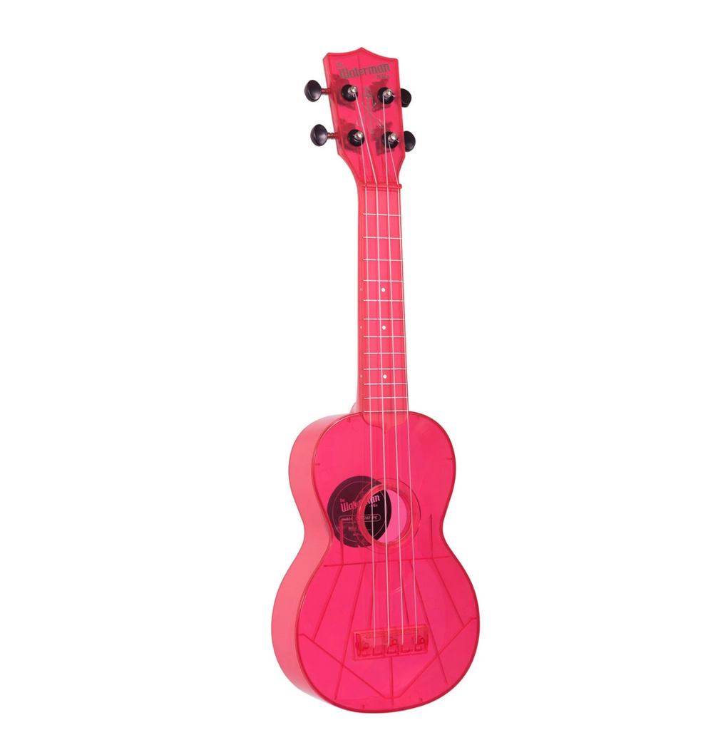 Kala The Waterman Soprano Ukulele - Fluorescent Watermelon Pink - Walt Grace Vintage