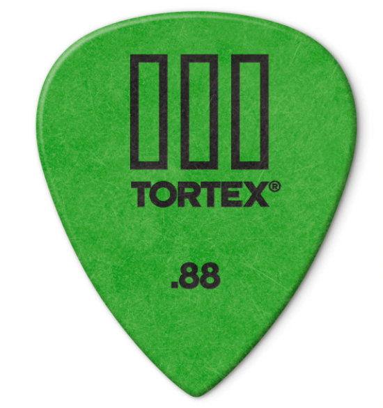 Dunlop 462P088 Tortex TIII Guitar Picks .88mm 12 pack - Green - Walt Grace Vintage