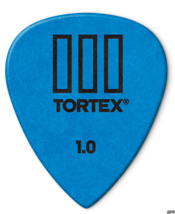 Dunlop 462P100 Tortex TIII Guitar Picks 1.00mm 12 pack - Blue - Walt Grace Vintage