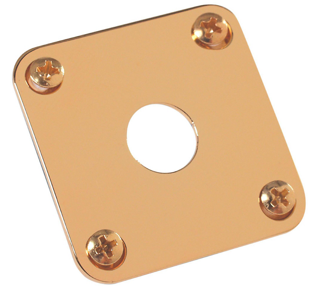 Gibson Metal Jack Plate for Les Paul PRJP-020 - Gold - Walt Grace Vintage