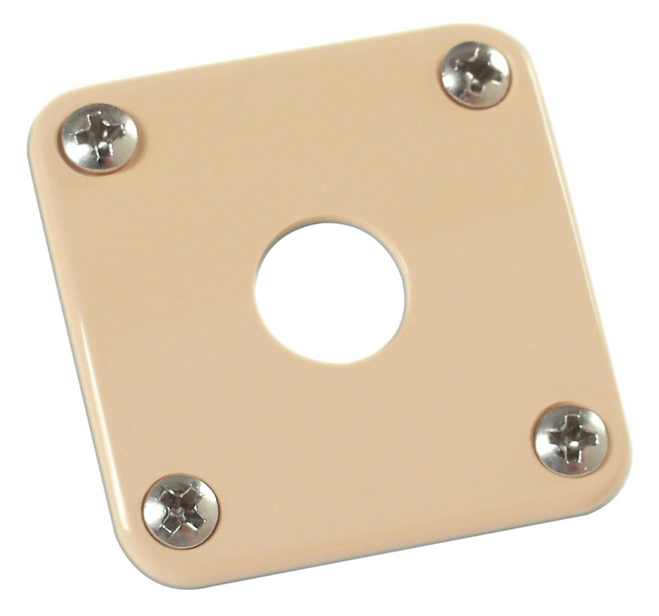 Gibson Metal Jack Plate for Les Paul PRJP-020 - Cream - Walt Grace Vintage