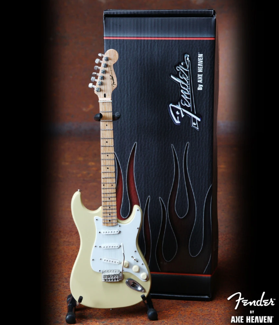Cream Fender™ Strat™ Mini Guitar - Walt Grace Vintage